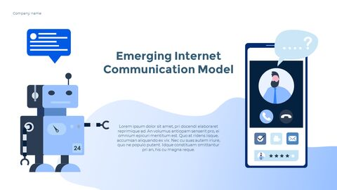 Social Network Communication Modern PPT Templates_13