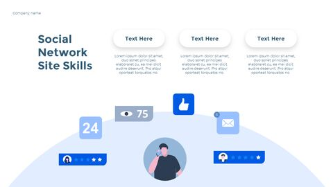 Social Network Communication Modern PPT Templates_15