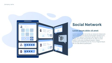 Social Network Communication Modern PPT Templates_18