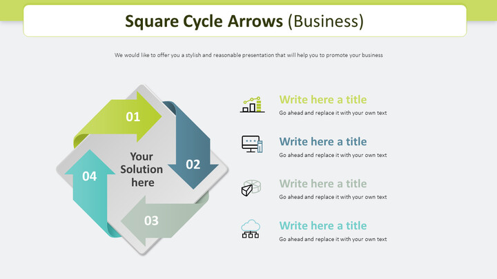 Square Cycle Arrows Diagram (Business)_02