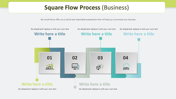 Square Flow Process Diagram (Business)_02