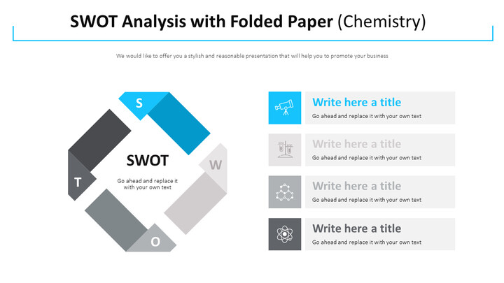 SWOT Analysis with Folded Paper Diagram (Chemistry)_01