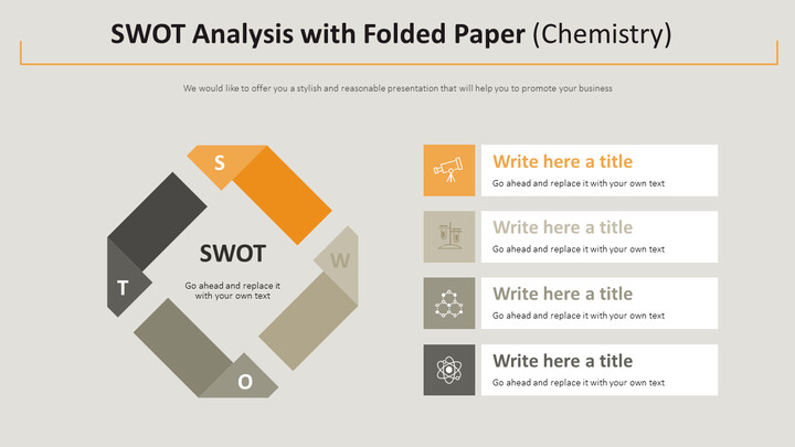 SWOT Analysis with Folded Paper Diagram (Chemistry)_02