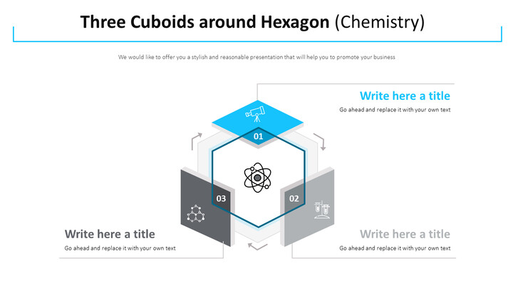 Three Cuboids around Hexagon Diagram (Chemistry)_01