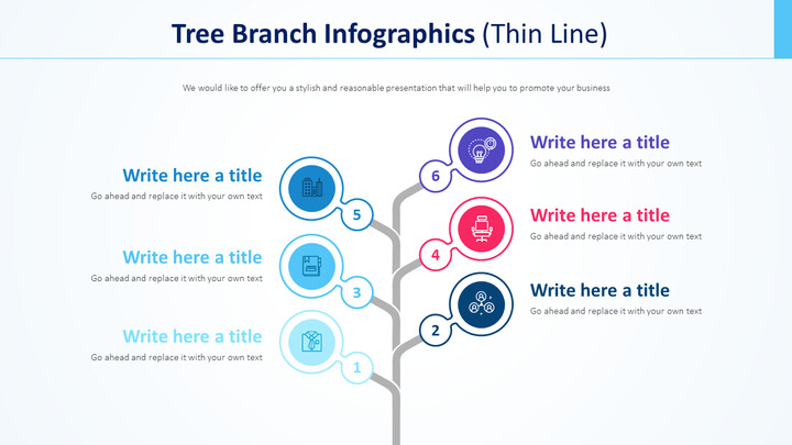 Tree Branch Infographics Diagram (Thin Line)_01
