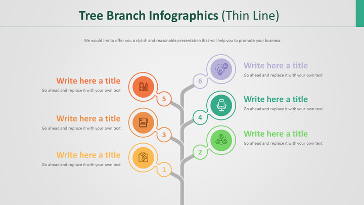 Tree Branch Infographics Diagram (Thin Line)_02