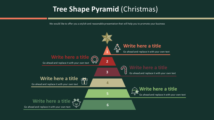 Tree Shape Pyramid Diagram (Christmas)_02