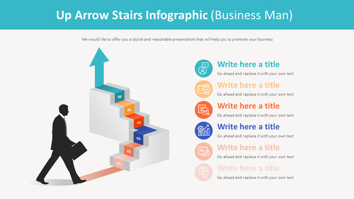 Up Arrow Stairs Infographic Diagram (Business Man)_01