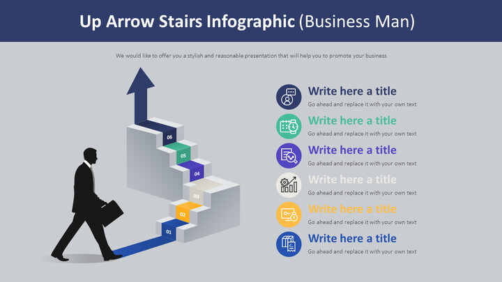 Up Arrow Stairs Infographic Diagram (Business Man)_02