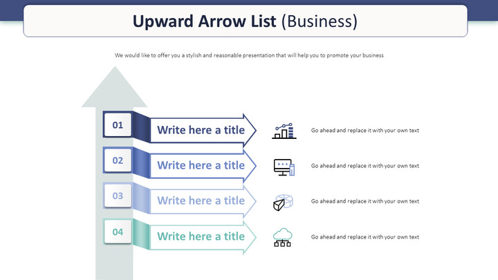 Upward Arrow List Diagram (Business)_01
