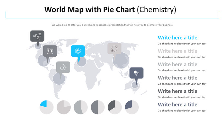 World Map with Pie Chart Diagram (Chemistry)_01