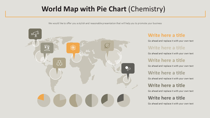 World Map with Pie Chart Diagram (Chemistry)_02