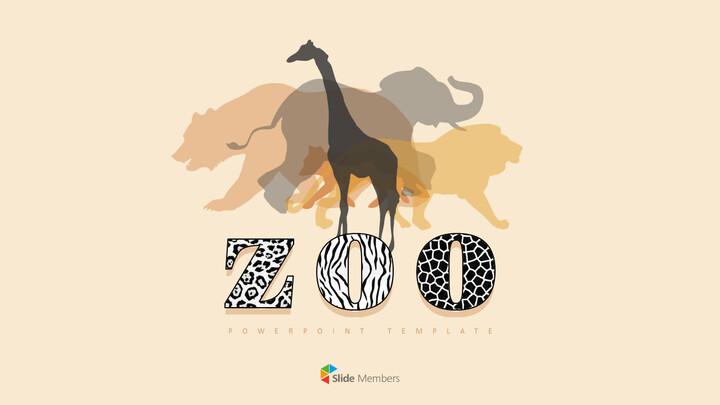 동물원 프레젠테이션용 PowerPoint 템플릿_01