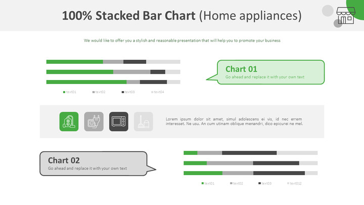 100% Stacked Bar Chart (Home appliances)_01