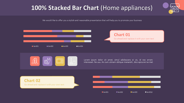 100% Stacked Bar Chart (Home appliances)_02