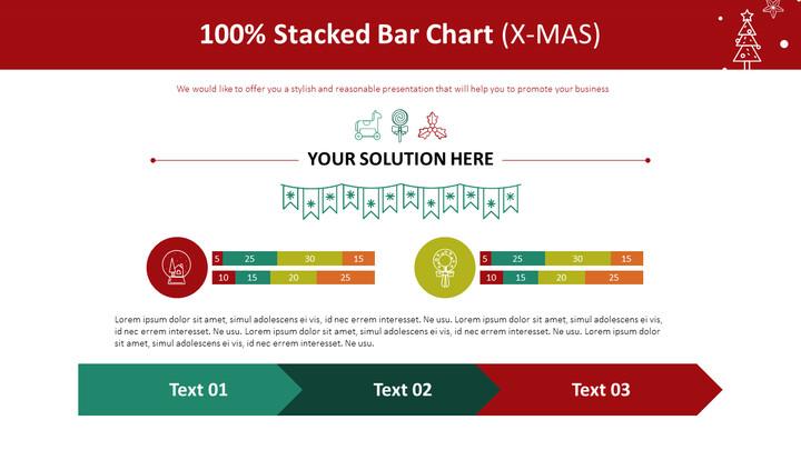 100 % 누적 막대 차트 (X-MAS)_01