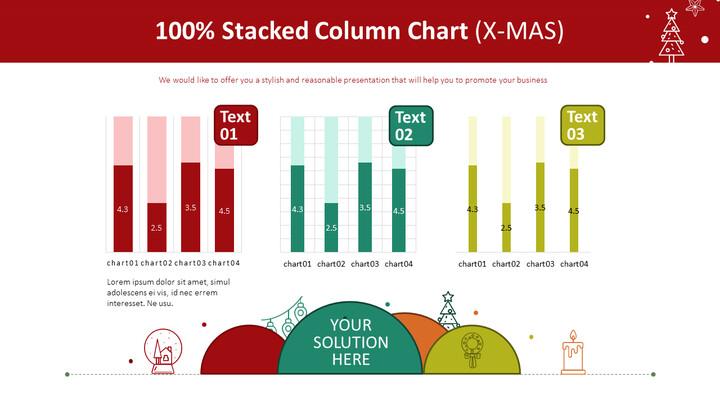 100% Stacked Column Chart (X-MAS)_01