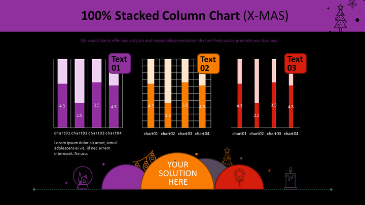 100% Stacked Column Chart (X-MAS)_02