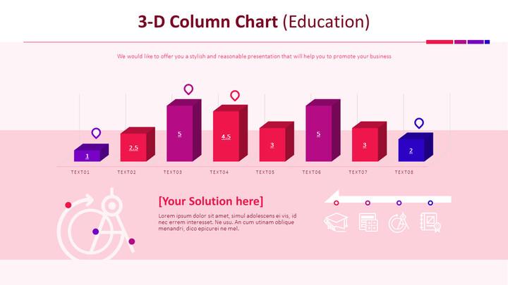 3-D Column Chart (Education)_01