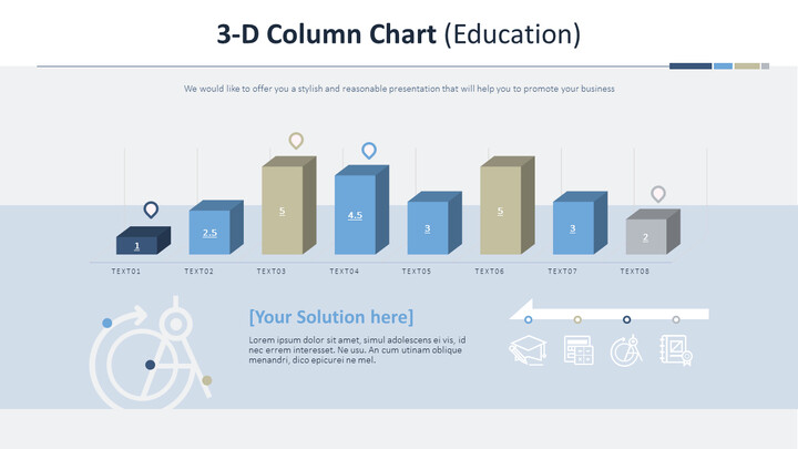 3-D Column Chart (Education)_02