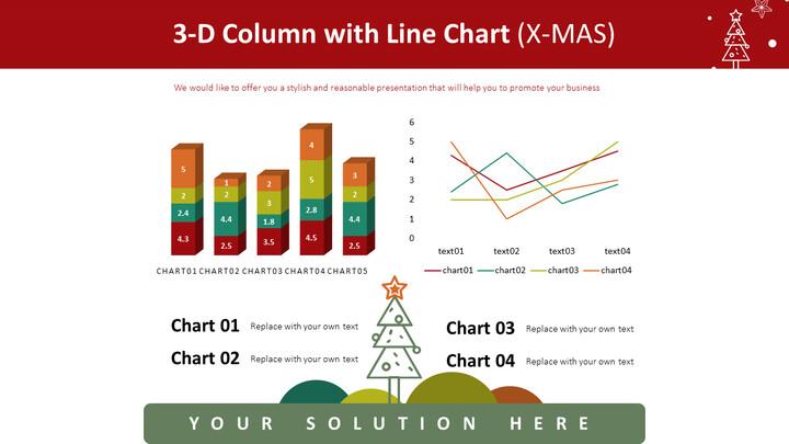 3-D Column with Line Chart (X-MAS)_01