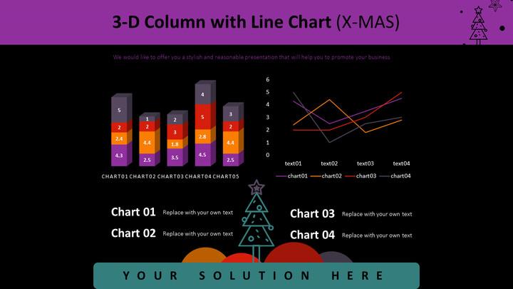 3-D Column with Line Chart (X-MAS)_02