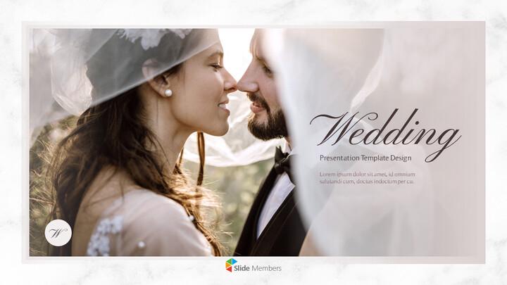 아름다운 결혼식 비즈니스 프레젠테이션 PPT_01