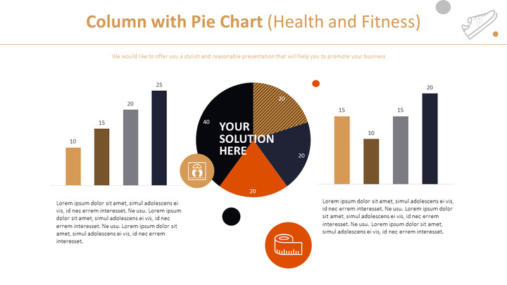 Column with Pie Chart (Health and Fitness)_02