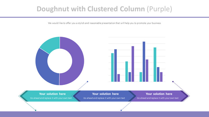 Doughnut with Clustered Column (Purple)_01