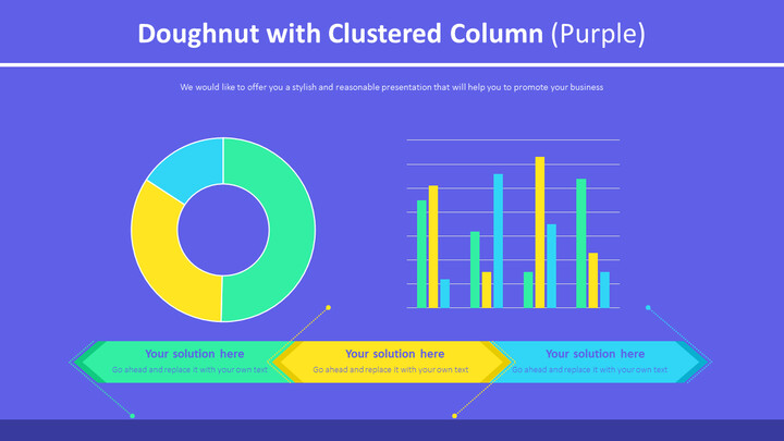 Doughnut with Clustered Column (Purple)_02