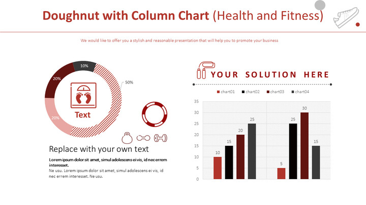 Doughnut with Column Chart (Health and Fitness)_01