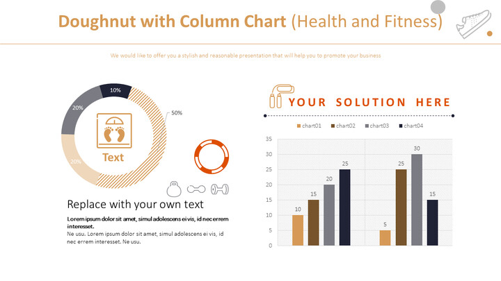 Doughnut with Column Chart (Health and Fitness)_02