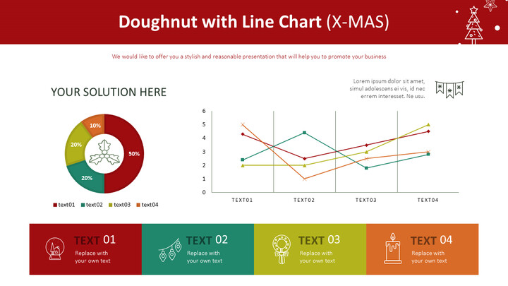 Doughnut with Line Chart (X-MAS)_01