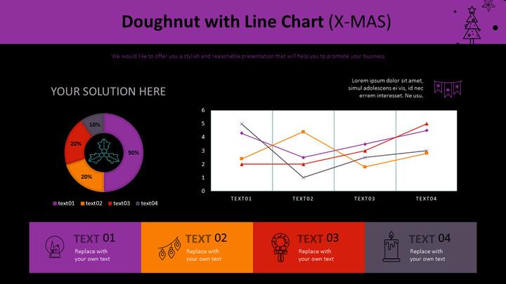 Doughnut with Line Chart (X-MAS)_02