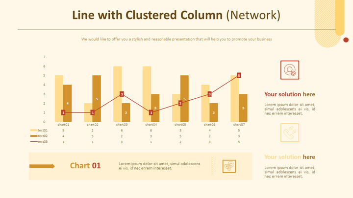 Line with Clustered Column Chart (Network)_01