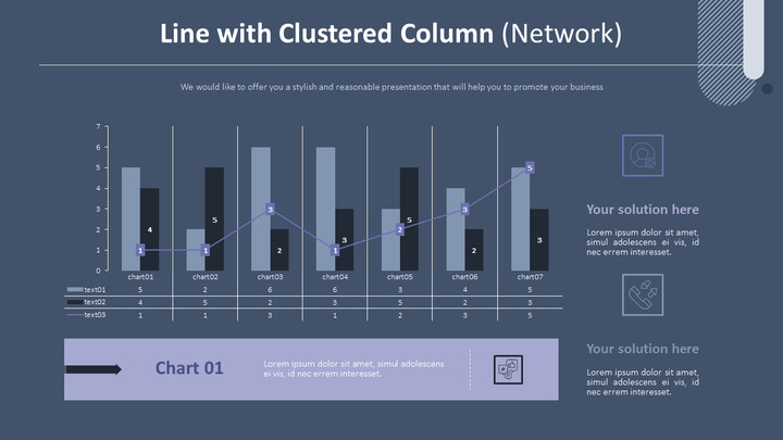 Line with Clustered Column Chart (Network)_02