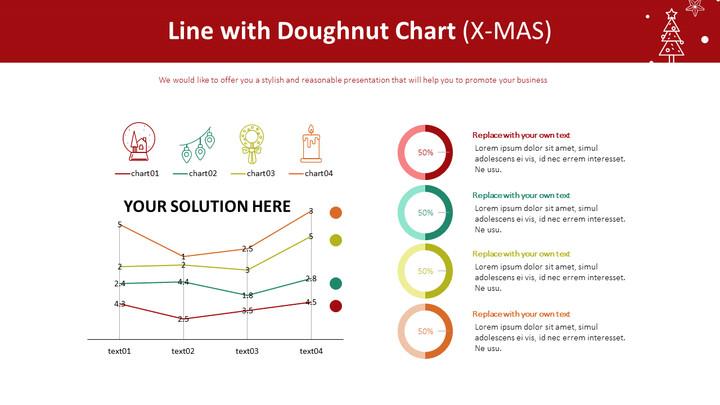 Line with Doughnut Chart (X-MAS)_01