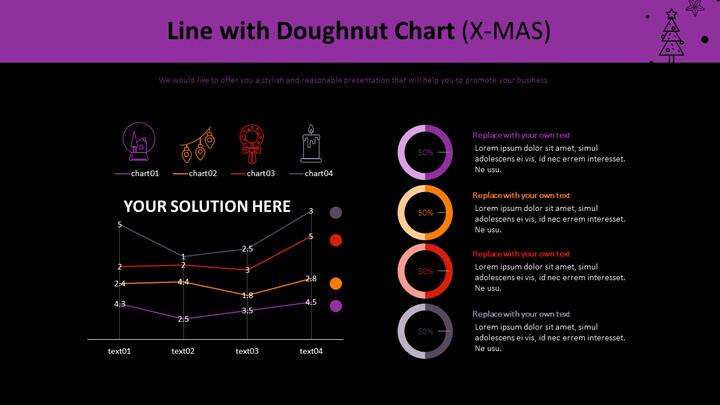 Line with Doughnut Chart (X-MAS)_02