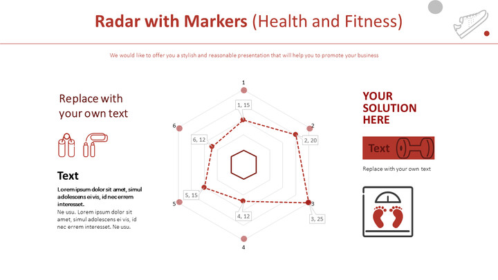 Radar with Markers Chart (Health and Fitness)_01
