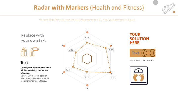 Radar with Markers Chart (Health and Fitness)_02