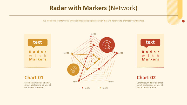 Radar with Markers Chart (Network)_01