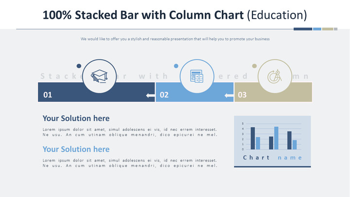Single Stacked Bar with Column Chart (Education)_02