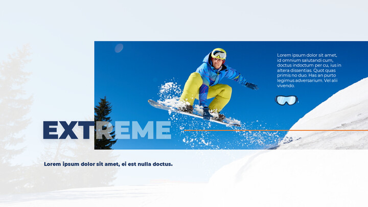 스노우 보드 & 스키 PPT 테마 슬라이드_02