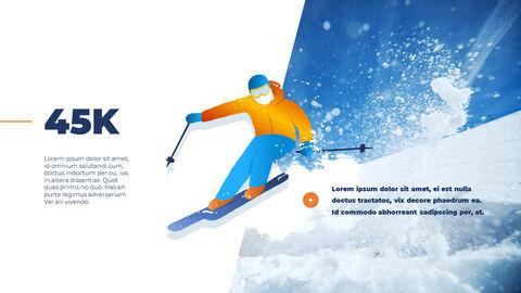 스노우 보드 & 스키 PPT 테마 슬라이드_04