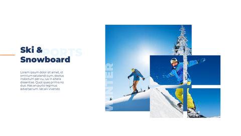 스노우 보드 & 스키 PPT 테마 슬라이드_07