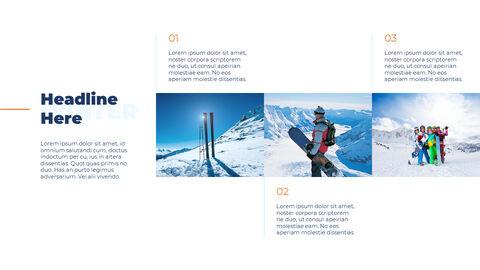 스노우 보드 & 스키 PPT 테마 슬라이드_09