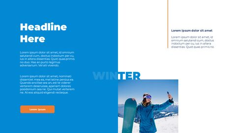 Snowboard & Ski PPT Theme_04