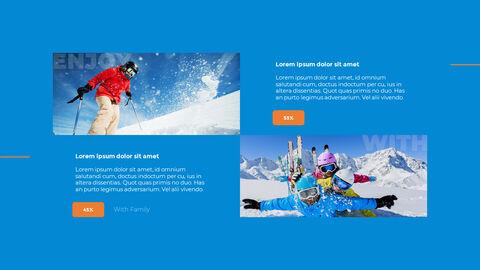 스노우 보드 & 스키 PPT 테마 슬라이드_12