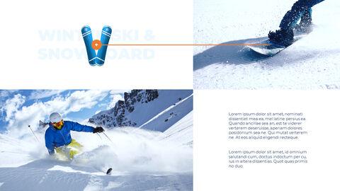 스노우 보드 & 스키 PPT 테마 슬라이드_13
