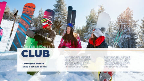 스노우 보드 & 스키 PPT 테마 슬라이드_14
